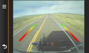 This is a screen capture from the Garmin BC 20 Wireless Backup Camera.