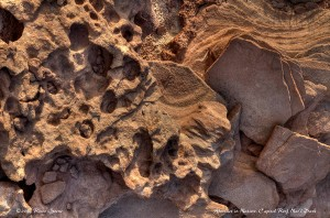Abstract in the rocks: Capitol Reef