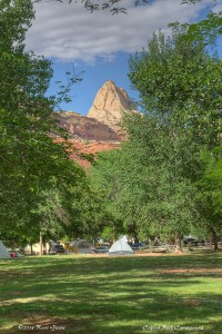 A view from my campsite at Capitol Reef