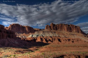 A view along the Fremont Trail in Capitol Reef