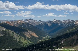 View from Black Bear Pass Road outside of Silverton, CO
