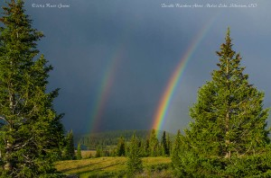 Double rainbow above Molas Lake... easily the most bright and intensely colored rainbow I've seen in my life