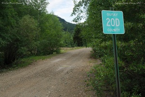 "Ouray County Road 20D, the ""back door"" to Ironton Park"