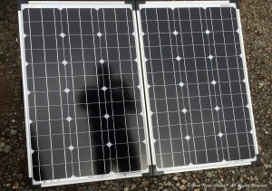 The solar panel portion of the GoPower GP-PSK-120 solar panel kit