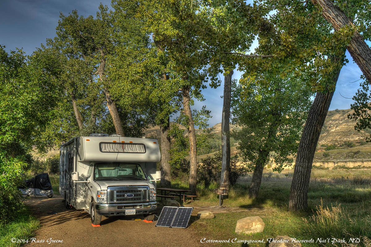 Cottonwood Campground Theodore Roosevelt Nat L Park Nd