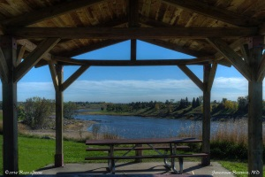Picnic shelter, Jamestown Reservoir