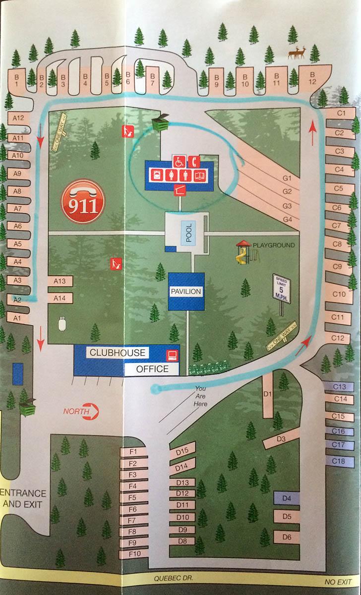 Ozark Country Campground Branson MO Russ On The Road - Branson missouri casinos map