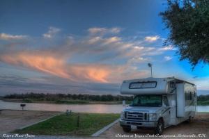 Charlene, Sunset, Yegua Creek Campground