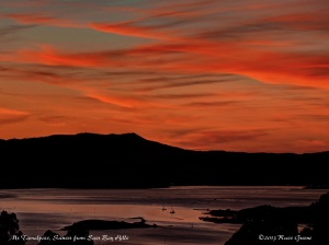 Sunset, San Francisco Bay & Mt. Tam
