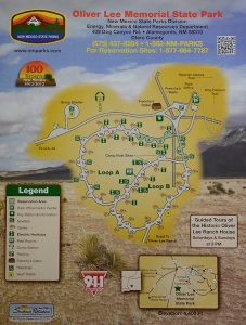 Oliver Lee Memorial State Park Campground Map
