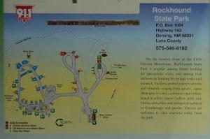 Rockhound State Park Campground Map