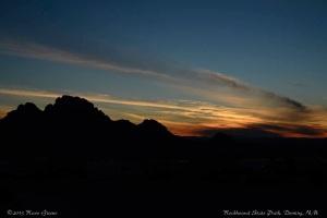 Sunset: Rockhound State Park, NM
