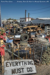 Second hand shop at Quartzsite