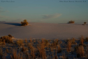 Sunset at White Sands National Monument