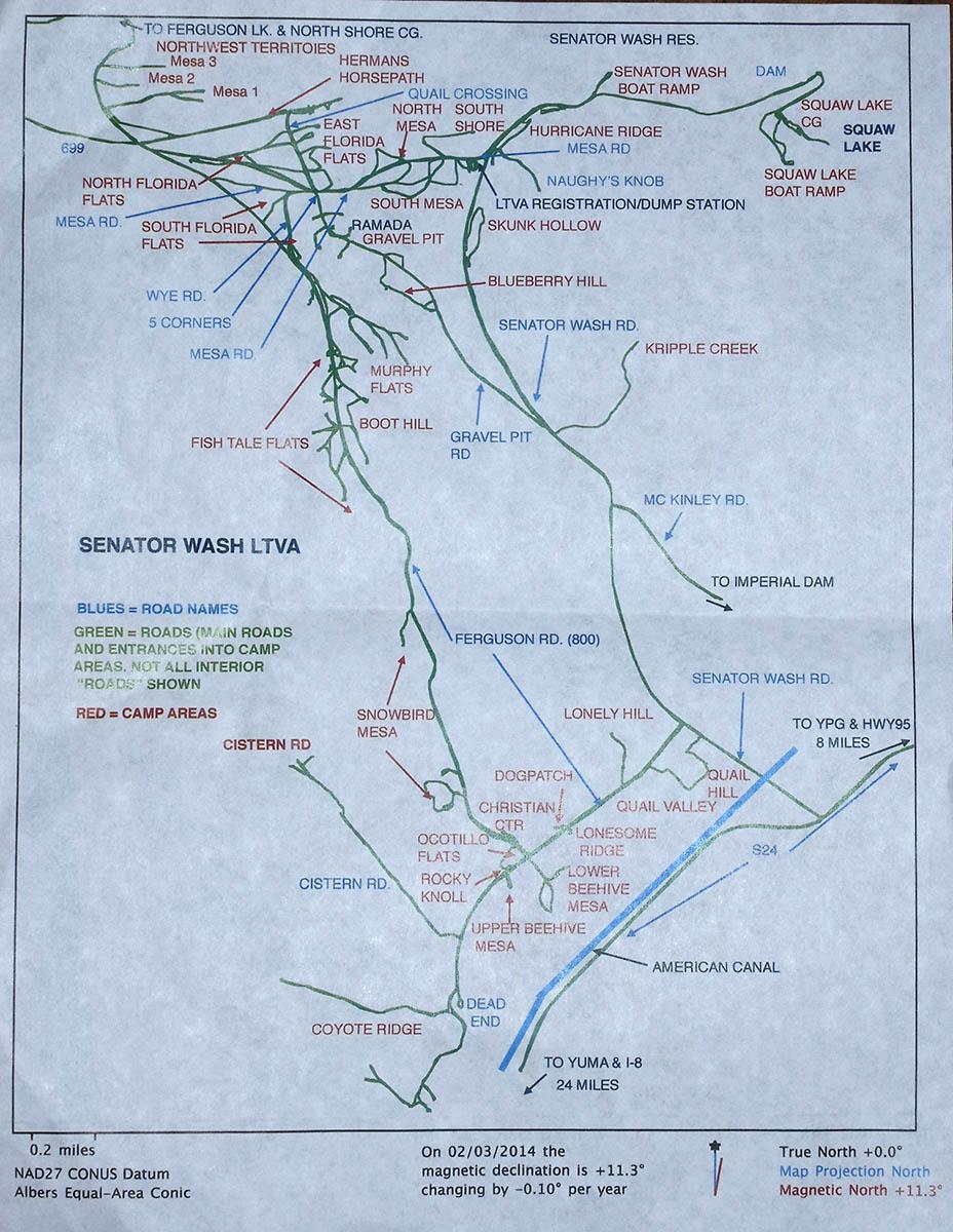 Senator Wash, BLM Imperial Dam LTVA, Near Yuma, AZ | Russ on ... on