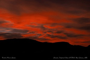 Sunset at Imperial Dam LTVA