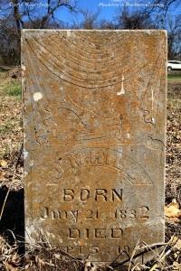 Headstone, Buckhorn Cemetery