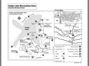 Cedar Lake Map