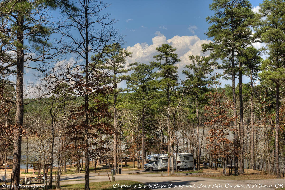 Cedar lake campgrounds ouachita nat l forest ok russ for Camping cabins in oklahoma