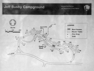 Jeff Busby Campground Map