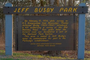 Signage at Jeff Busby Park