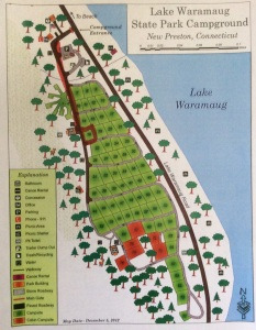 Map - Lake Waramaug Campground