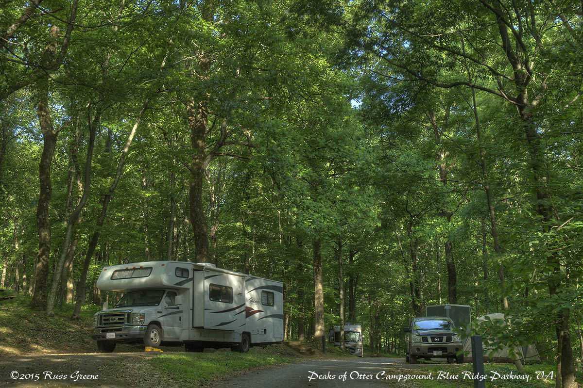 Peaks Of Otter Campground Blue Ridge Parkway Va Russ