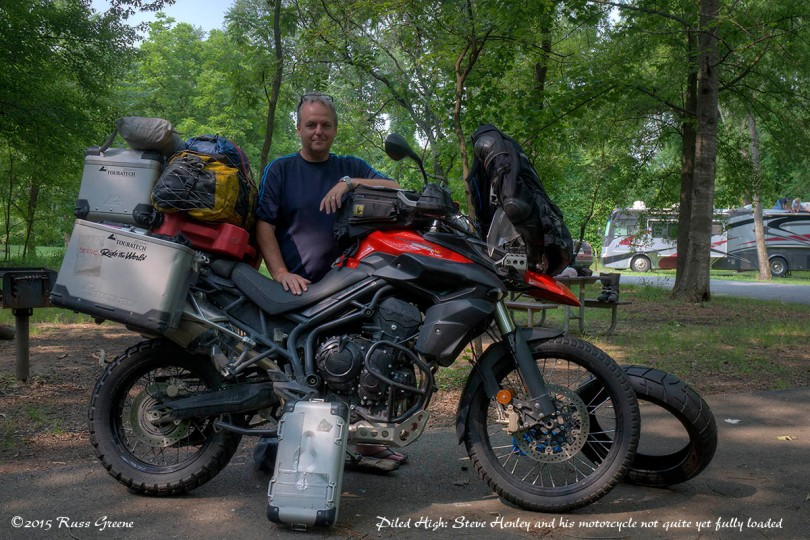 Steve Henley and his Triumph Tiger