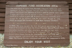 History of Hapgood Pond