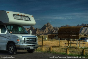 Cedar Pass Campground, Badlands National Park
