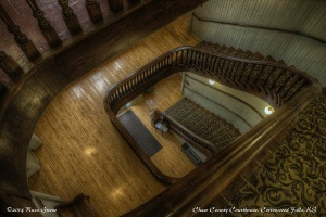 Staircase: Chase County Courthouse, Cottonwood Falls, KS.