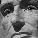 Abe Lincoln Close-up: Mount Rushmore
