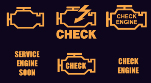 Your check engine light may look like any one of these, or something else.