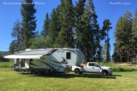 Camped in the field at Hat Creek Hereford RV Park & Campground