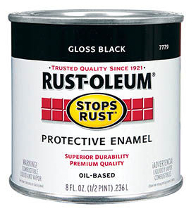Rust-Oleum Gloss Black paint