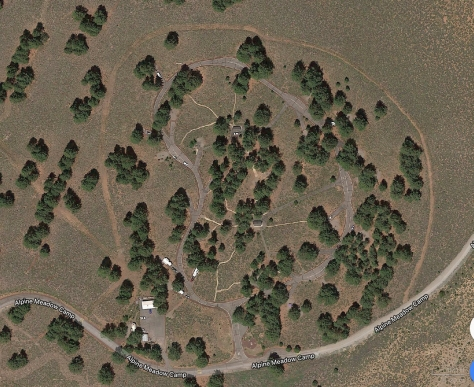 Alpine Meadows Campground Satellite View