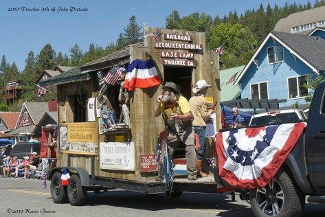 Railroad Float, Truckee CA, 4th of July Parade