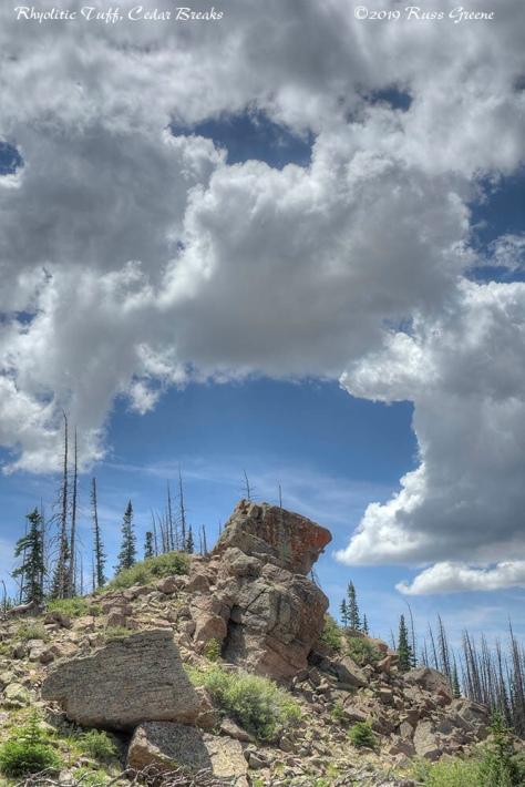 Rhyolitic Tuff Rock formation, Cedar Breaks National Monument