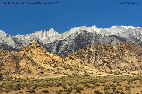 Mt. Whitney Over the Alabama Hills