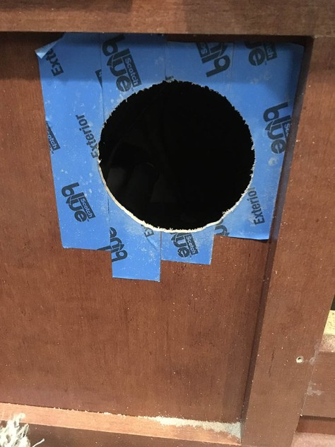 Vent hole cut for new register