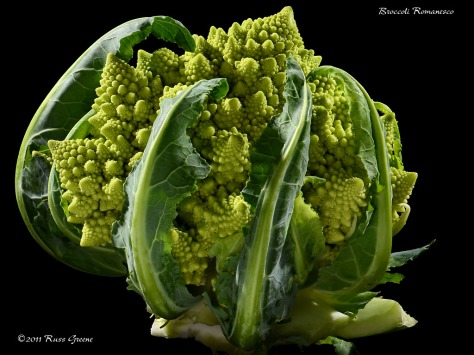 Romanesco Broccoli, Roman cauliflower, Broccolo Romanesco, Romanesque cauliflower or simply Romanesco